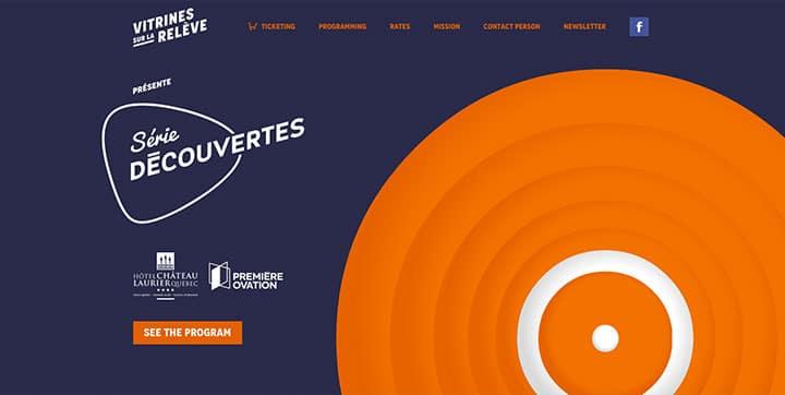 Vitrines sur la relève  an example of using orange color scheme