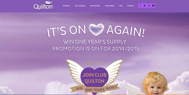 Quilton purple color website